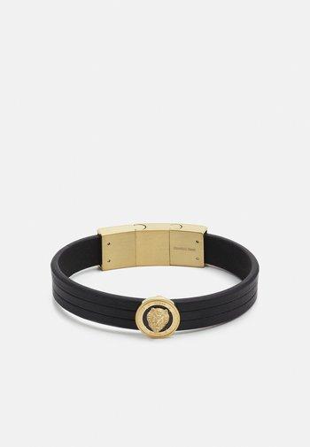 LION COIN LEATHER BRACELET - Bracelet - gold-coloured/black
