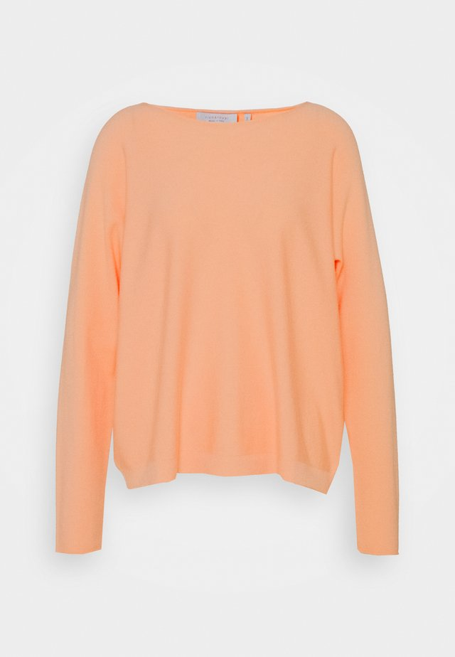 BOAT NECK SEAMLESS - Sweter - peach