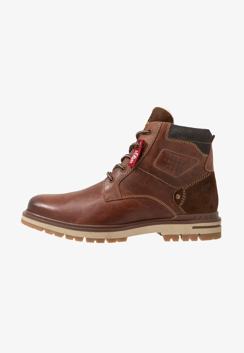 s.Oliver - Lace-up ankle boots - brown