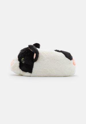 MENS PIG  - Tohvelit - black/white