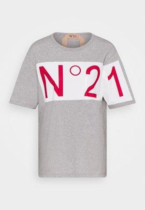 Camiseta estampada - melange grey