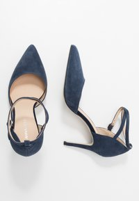 Anna Field - LEATHER PUMPS - Korolliset avokkaat - dark blue - 3