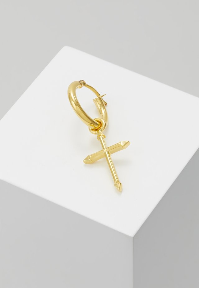 CROSS HOOP EARRING - Kolczyki - gold-coloured