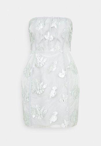 CORSET DETAIL BODYCON DRESS - Cocktail dress / Party dress - grey