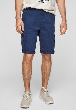 BERMUDES - Denim shorts - blue