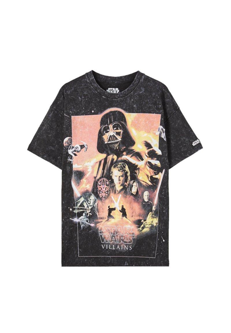 PULL&BEAR - Print T-shirt - black