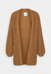 Abercrombie & Fitch - CABLE PUFF SLEEVE CARDI - Cardigan - medium brown - 3