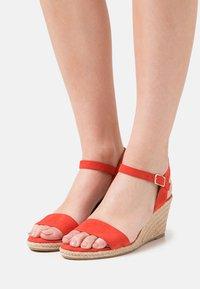 Tamaris - Wedge sandals - flame - 0
