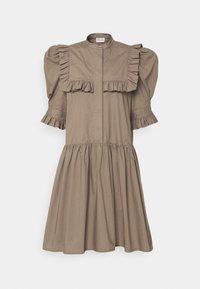 FLOIA - Shirt dress - dark mink