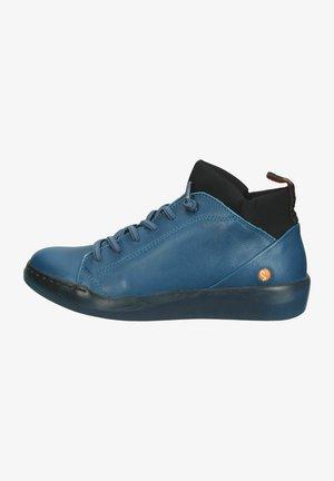 High-top trainers - blue denim/black neoprene