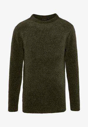DHARMA - Stickad tröja - khaki/black