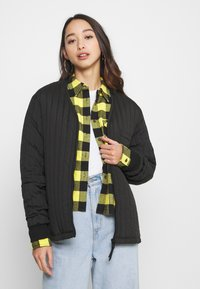Tommy Jeans - GINGHAM CHECK  - Button-down blouse - star fruit yellow/black - 3