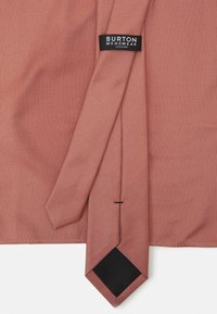 Burton Menswear London - TEXTURED TIE AND HANKIE SET - Tie - rust