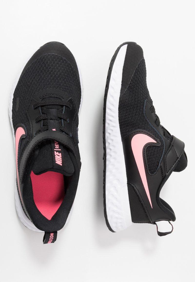 Nike Performance - REVOLUTION 5 - Neutral running shoes - black/sunset pulse