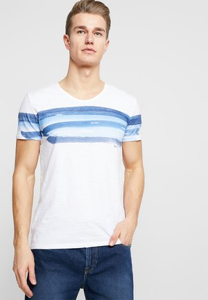 SHORT SLEEVE V-NECK - T-shirt con stampa - white