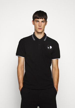 Polo shirt - darkest black/white