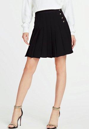 PLISSEE - A-line skirt - black