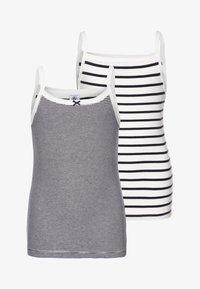 Petit Bateau - LOT 2 PACK  - Undershirt - white/blue - 0