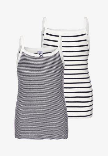 LOT 2 PACK  - Undershirt - white/blue