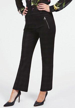 TARTANMUSTER PONTE-STRICK - Pantalon classique - mehrfarbig schwarz