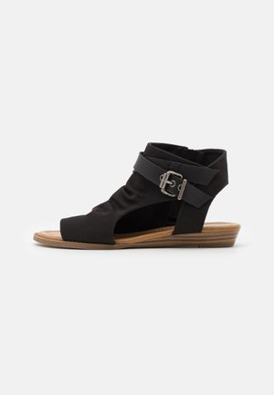 BALLA4EARTH - Ankle cuff sandals - blacksands