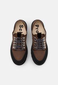 Proenza Schouler - CITY LACE UP SHOE - Volnočasové šněrovací boty - dark brown/black - 4