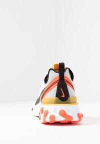 Nike Sportswear - REACT - Sneakersy niskie - white/black/bright crimson/universe gold - 4