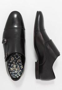 Walk London - HENDRIX MONK - Mocassini eleganti - smooth black - 1