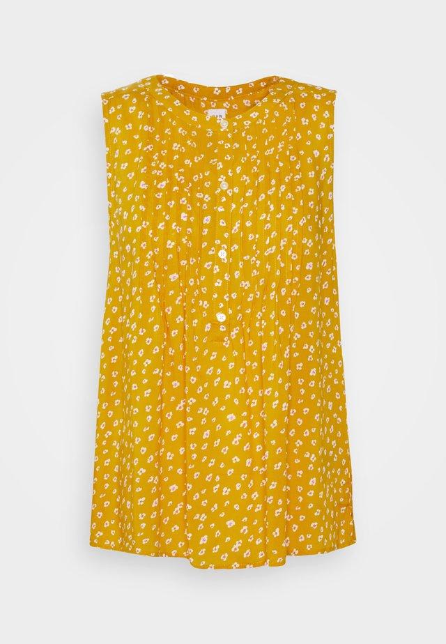 PINTUCK  - Top - mini yellow