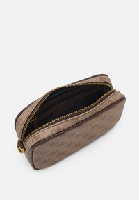Guess - VEZZOLA SMALL NECESSAIRE UNISEX - Across body bag - brown - 2