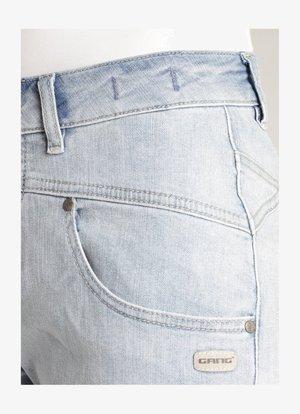 Denim shorts - nori denim midblue
