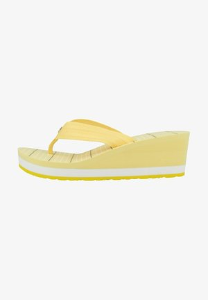 STRIPY FOOTBED BEACH - Pool slides - delicate yellow