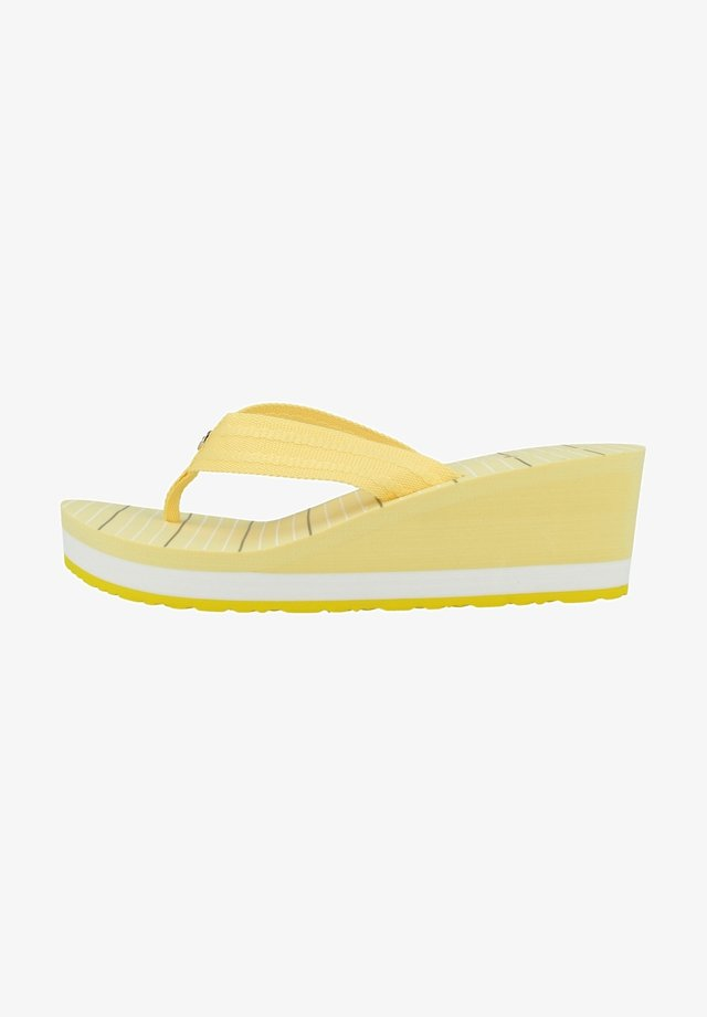 STRIPY FOOTBED BEACH - Badslippers - delicate yellow