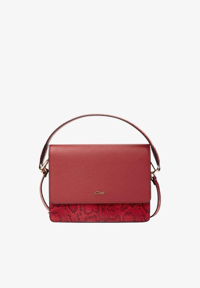 MIT SNAKE-DETAILS - Handbag - red