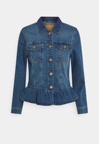 ONLY - ONLALLY FRILL JACKET - Denim jacket - medium blue denim - 0