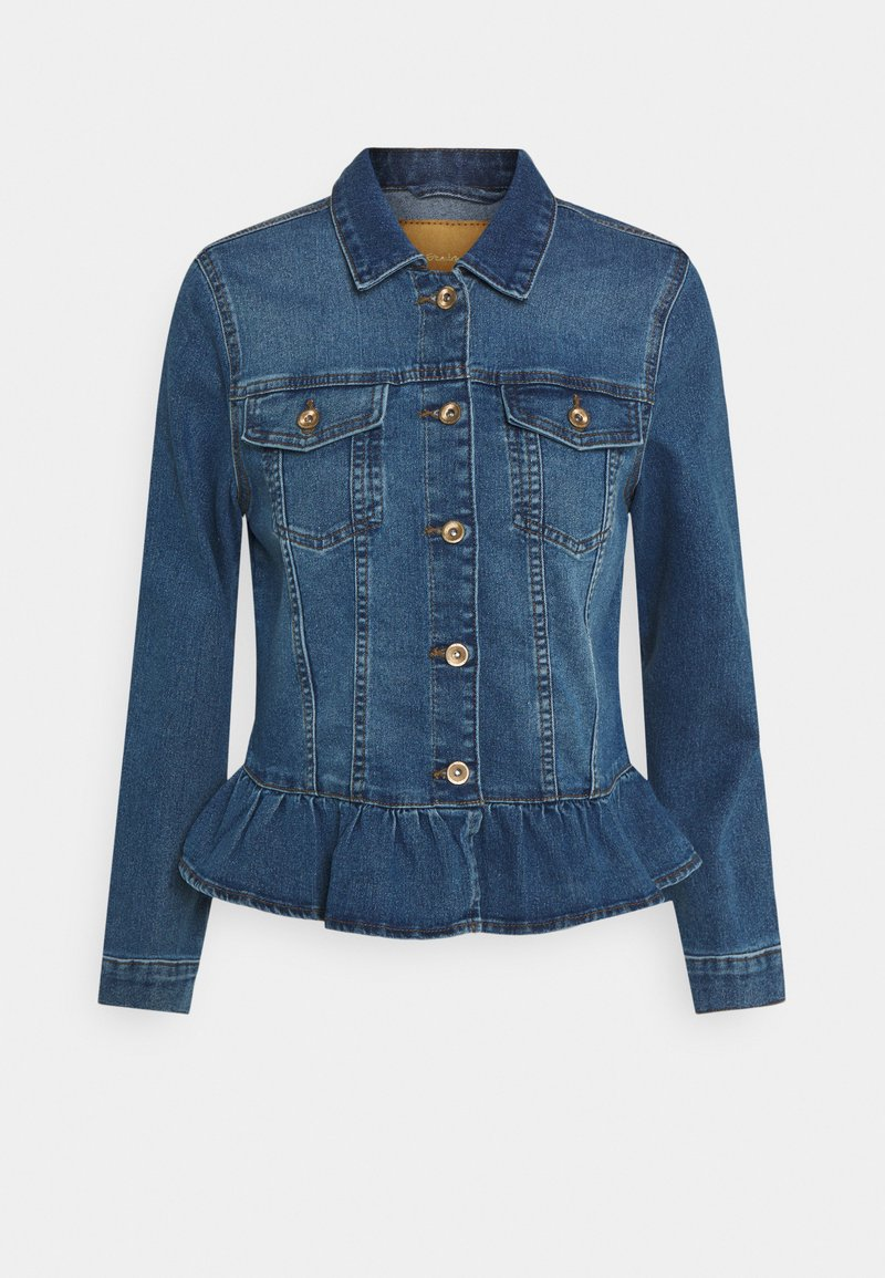 ONLY - ONLALLY FRILL JACKET - Denim jacket - medium blue denim
