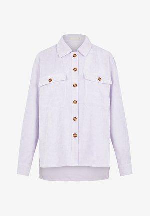 Button-down blouse - purple heather