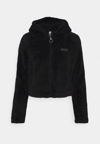 ONPJOMO FLUFFY SHORT HOOD - Training jacket - black