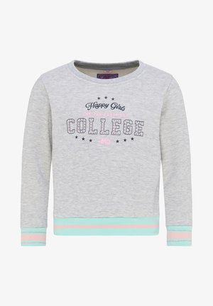 Sweater - grau melange minze