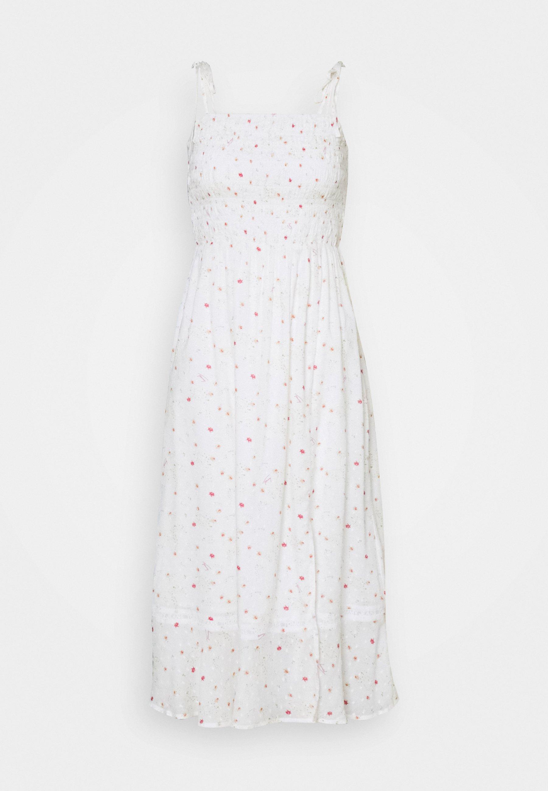 Women PRINTED SMOCK MIDI DRESS - Day dress