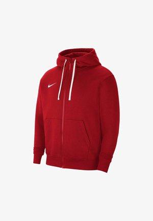 Zip-up hoodie - university red
