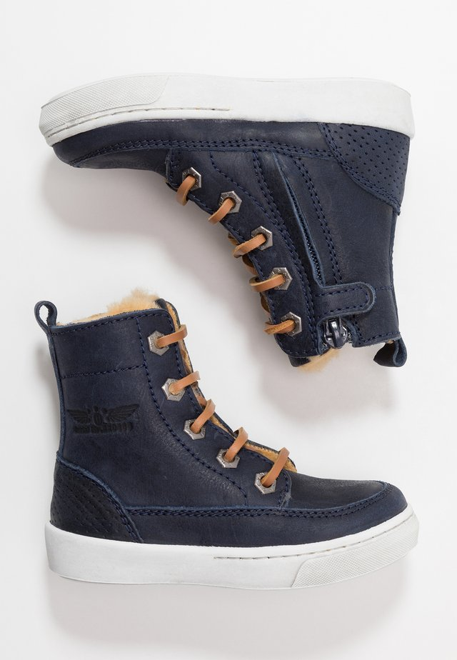 VULCAN - Lace-up ankle boots - marine