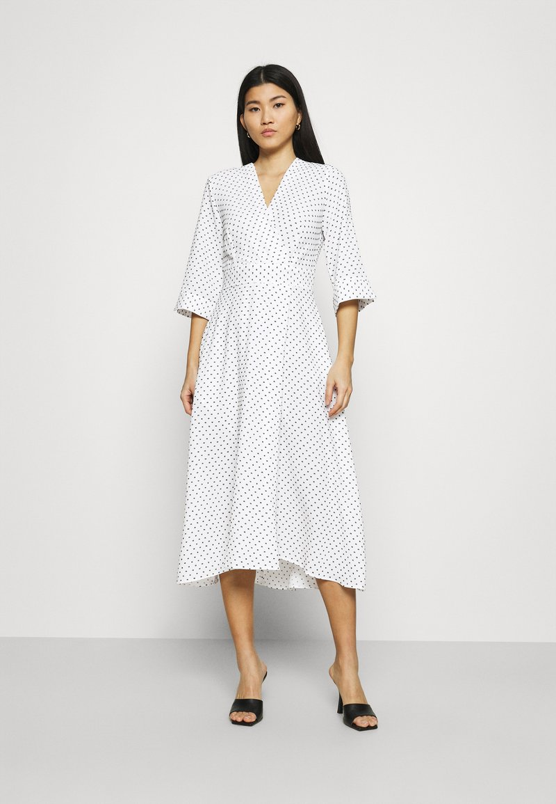 Closet - CLOSET HIGH LOW WRAP DRESS - Day dress - white