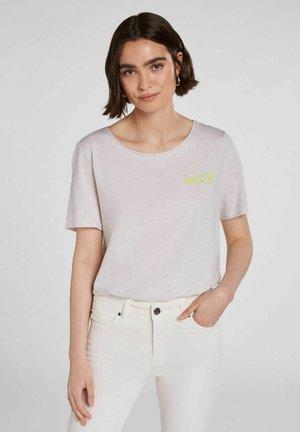 Print T-shirt - offwhite melange