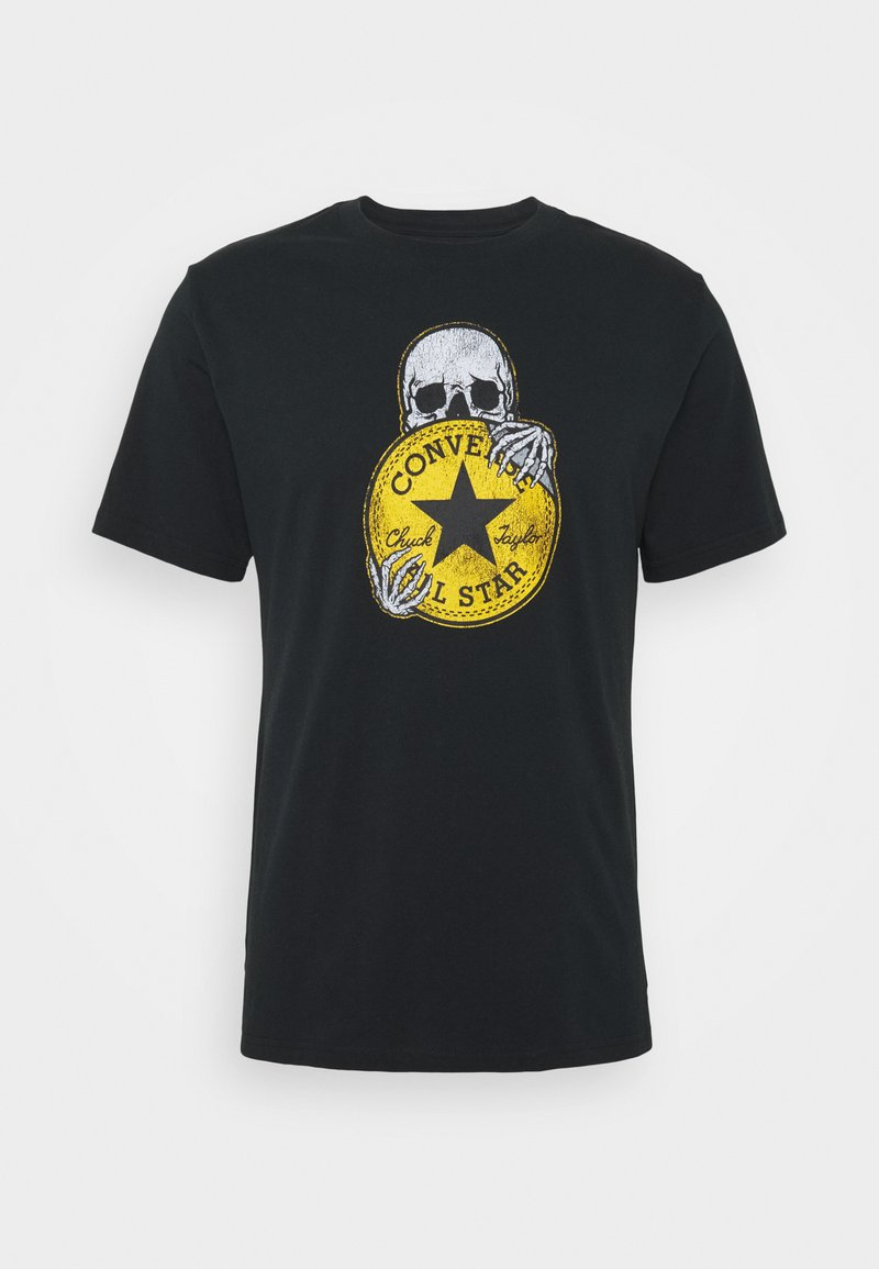 Converse - CHUCK PATCH SKULL TEE - Print T-shirt - black