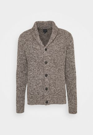 SHAKER CARDI - Kardigan - medium brown