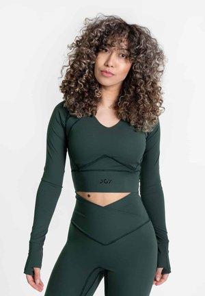 NOLA CONTOUR - CROP THUMBHOLE  - Long sleeved top - forest green
