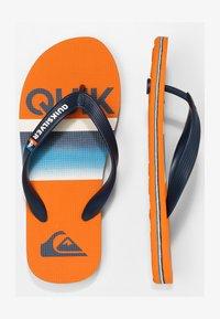 Quiksilver - MOLOKAI SLAB  - Pool shoes - blue/blue/orange - 1