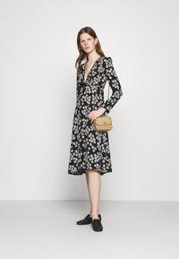 Alexa Chung - LONG SLEEVE DRESS - Freizeitkleid - black/off white - 1