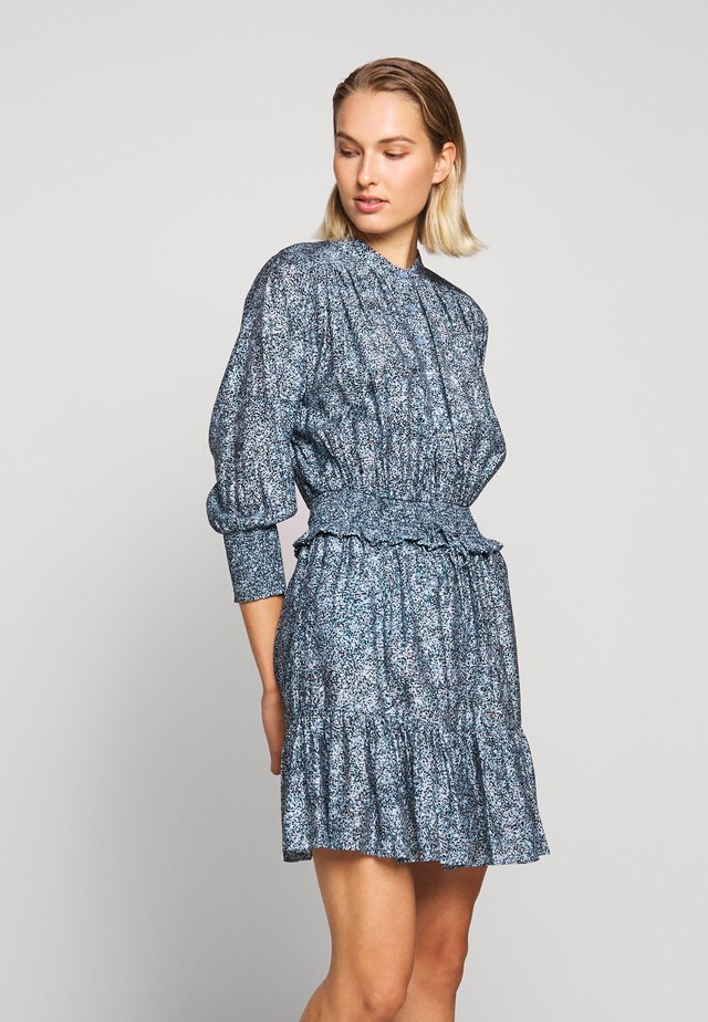 DRESS - Shirt dress - blue/multi